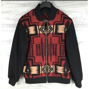 Pendleton Men's Aztec Wool Blend Bomber Jacket